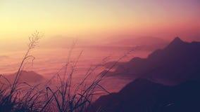 Montagne dans le nord de la Thaïlande Photo stock