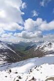 Montagne dans les nuages Photographie stock