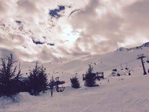 montagne Davraz di inverno Fotografie Stock