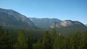 Montagne de banff de vallée d'arc Images libres de droits