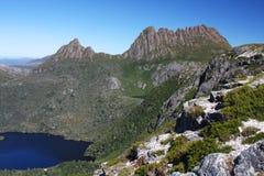 Montagne de berceau en Tasmanie Photo libre de droits
