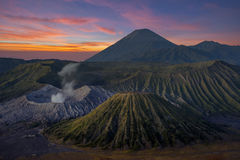 Montagne de Bromo, volcan en Indonésie Photos libres de droits