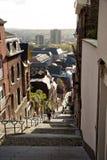Montagne DE Bueren trap in Luik in België Royalty-vrije Stock Afbeeldingen