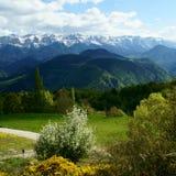 Montagne de cadi de Travesseres (Pyrénées, Catalogne) Images stock