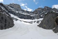 Montagne de cascade Image libre de droits