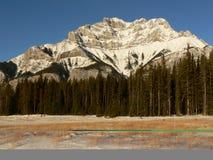 Montagne de cascade en hiver Photographie stock libre de droits
