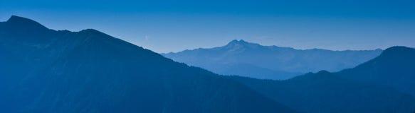 Montagne de Caucase, horizontal Images libres de droits