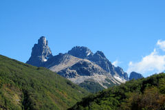 Montagne de Cerro Castillo, Chili Photo stock
