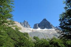 Montagne de Cerro Castillo, Chili Image stock