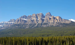 Montagne de château Image libre de droits