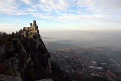 montagne de château Photos stock