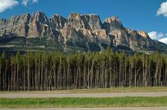 Montagne de château, parc national de Banff, Alberta, Canada. Images stock