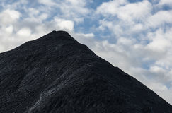 Montagne de charbon Photographie stock