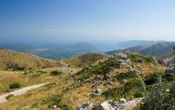 Montagne de ciel bleu de nature de la Grèce Leucade Photographie stock