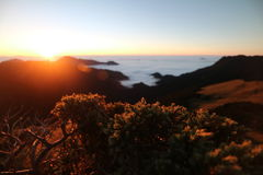 Montagne de colline de Chillai à Taïwan Images stock