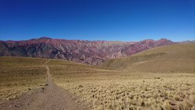 Montagne de 14 couleurs Images libres de droits