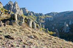 Montagne de Demerji en Crimée près d'Alushta Image libre de droits