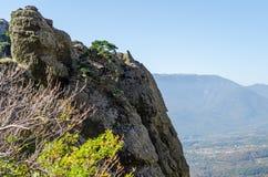 Montagne de Demerji en Crimée près d'Alushta Images libres de droits