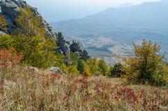Montagne de Demerji en Crimée près d'Alushta Photographie stock