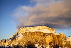 montagne de di fassa Italie val image libre de droits