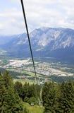 Montagne de Dobrac vue de la montagne de PEC, Autriche Photographie stock