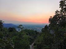 Montagne de downlight de Hangzhou de xihu de la Chine photographie stock