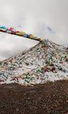 Montagne de flamme au Thibet Photos libres de droits