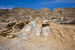 Montagne de graffiti photo stock