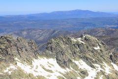 Montagne de Gredos à Avila en Castille Image stock