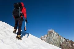 montagne de grimpeur images libres de droits