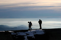 montagne de grimpeurs Image libre de droits