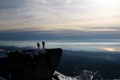 montagne de grimpeurs Photographie stock
