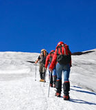 montagne de grimpeurs Photos stock