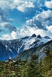 Montagne de grouse dans de Vancouver le Canada AVANT JÉSUS CHRIST Images libres de droits