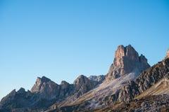 Montagne de Gusela de La, Passo Giau, dolomites Photographie stock libre de droits