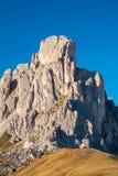 Montagne de Gusela de La, Passo Giau, dolomites Photos libres de droits