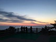 Montagne de Huangshan au lever de soleil Photo libre de droits