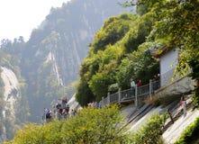 Montagne de Huashan Images libres de droits