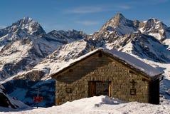 montagne de hutte Images stock