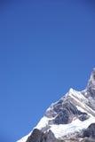 Montagne de Jirishanca dans les hauts Andes Photo stock