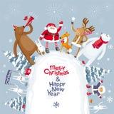 Montagne de Joyeux Noël Images libres de droits