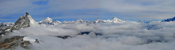 Montagne de Jungfraujoch Images stock