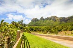 Montagne de King Kong de kalalea de kawaii d'Hawaï à l'intérieur d'île Photographie stock