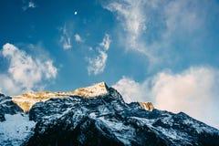 Montagne de Kondge Ri au Népal Image stock
