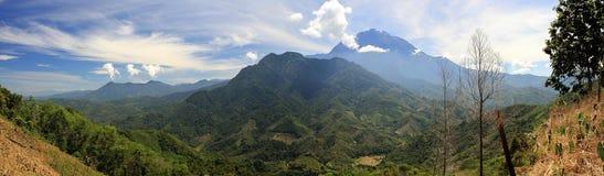 Montagne de Kota Kinabalu Images libres de droits