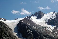 Montagne de l'hiver Images stock