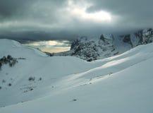 Montagne de l'hiver Photos libres de droits