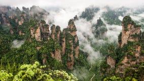 Montagne de la Chine chez Zhang Jie Jia photographie stock
