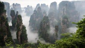 Montagne de la Chine chez Zhang Jie Jia photo stock