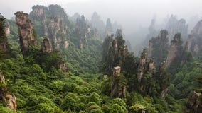Montagne de la Chine chez Zhang Jie Jia photo libre de droits